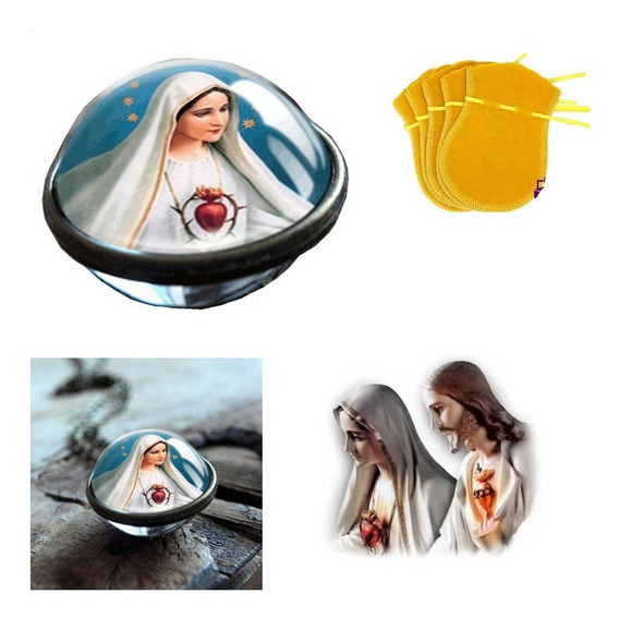 Colar Esfera Virgem Maria Mãe Jesus +brinde Temos Galaxia