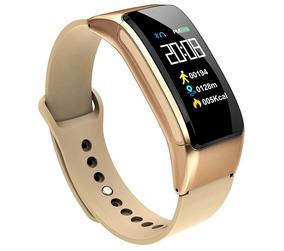 Relógio Dourado Feminino Smartwatch Inteligente Frete Free