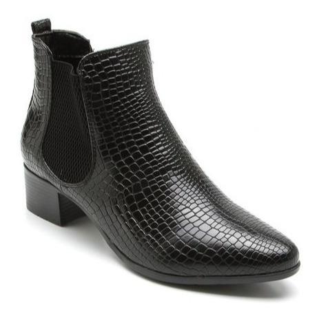 Bota Feminina Mooncity Cano Baixo Salto 75911 - Maico Shoes