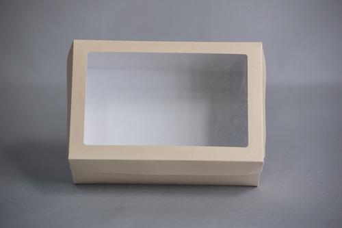 Imagen 1 de 3 de Caja Grande 26x18x10cm C/visor (x 50u.) Desayunos Sandwiches Pvc Acetato - 053 Bauletto