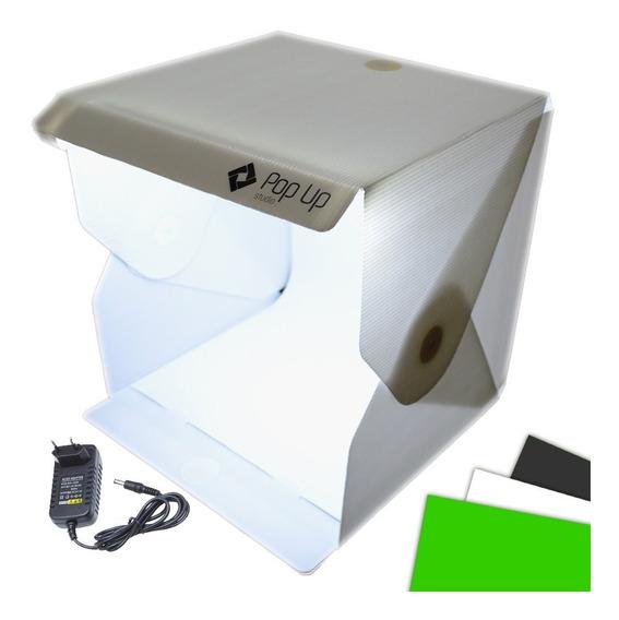 Mini Studio Mutu Com 3 Fundos Infinitos Led 5600 Lumens