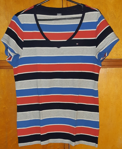 Remera Tommy Hilfiger Original Rayada Talle Xl Impecable