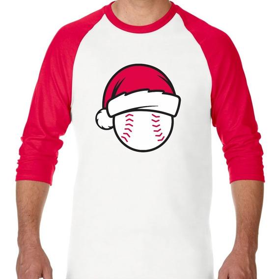 Playera Raglan Navidad Beisbol