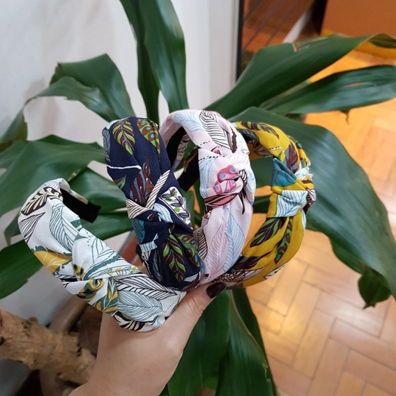 Kit 12 Tiara Turbante Nózinho Blogueira Com 4 Estampas