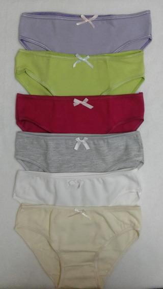 Pack X 12 Bombacha Juvenil-teens!! Talle 6 Al 18!! (2701)