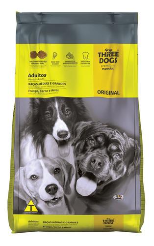 Comida Perro Three Dogs Raza Mediana Y Grande 3k + Regalo