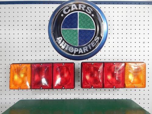 Juego Faros Traseros Triples Universales Camion.- Trailers -