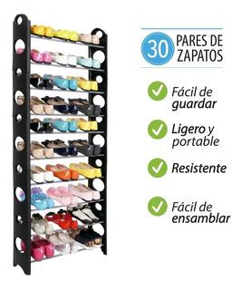 Rack Zapatera 30 Zapatos 10 Niveles Shoe Tower 2