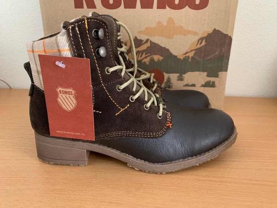 K-swiss Botas Ks Hiker Boot Para Dama Color Chocolate Nuevas