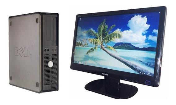 Pc Computador Desktop Cpu Completa 4gb Memoria Ram Lcd 19
