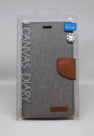 Funda Redmi Note 3 Mercury Goospery Canvas Diary Gris