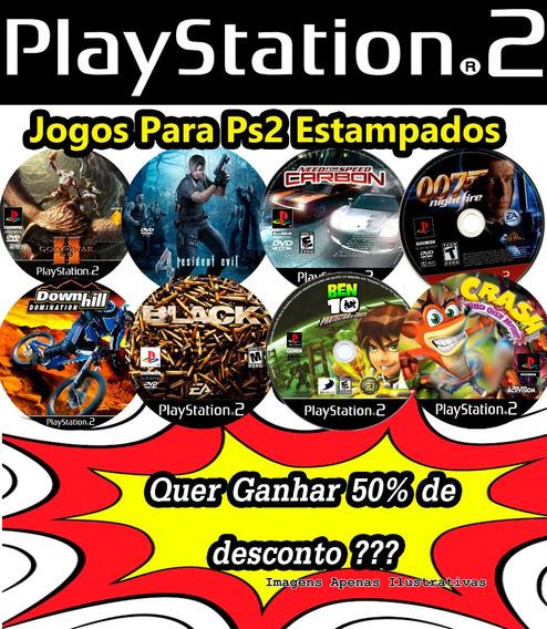 Jogos Patch De Ps2 Dvd Encarte+ Impressão No Disco!