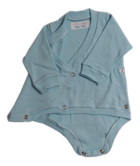 Kit Body Kimono Para Bebê 3 Peças / Bory Transpassado