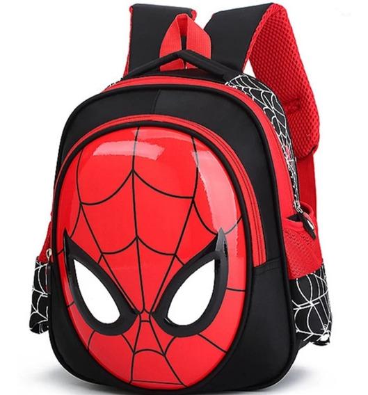 Mochila Bolsa Escolar Infantil Homem Aranha 3d Impermeável