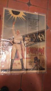 Loby Card Tamaño Poster Kaliman Jeff Cooper 94 Cm Original