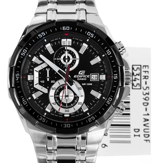 Relógio Hx045b Casio Edifice Ef558d Preto Aço Exclusive