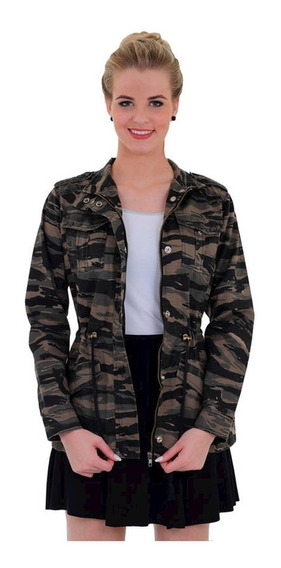 Parka Militar Feminina Treme Terra Tiger Jungle