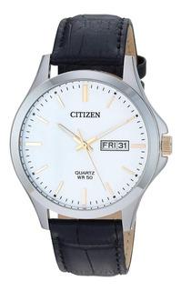 Reloj Citizen Hombre Cuero Clásico Calendario Bf200911a