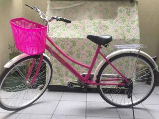 Bicicleta De Paseo Mujer Con Canastilla Un Par De Usos