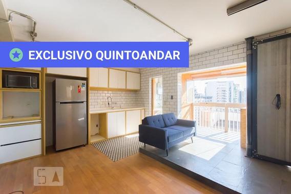 Apartamento No 14º Andar Com 1 Dormitório E 1 Garagem - Id: 892950002 - 250002