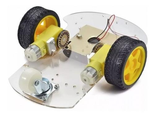 Imagen 1 de 6 de Kit Chasis Auto 2 Ruedas 2 Motores Arduino Robotica