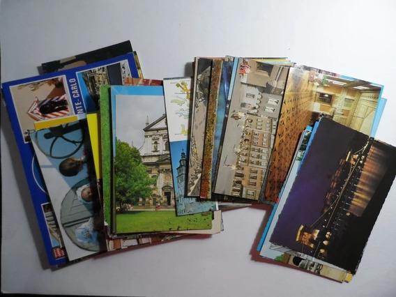 Lote Postales Monaco Bulgaria Polonia Años 80