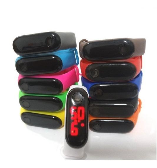 Kit 50 Relógio Pulseira Silicone Digital Bracelete Led