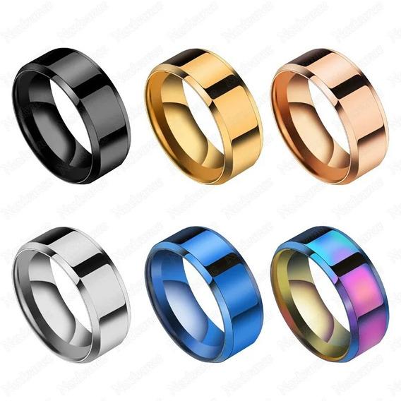 Anéis Chanfrado De Titânio Para Todas Ocasiões
