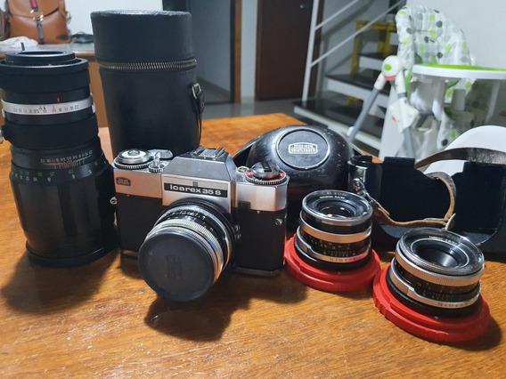 Máquina Fotográfica Analogica Icarex 35 S Completa 35mm