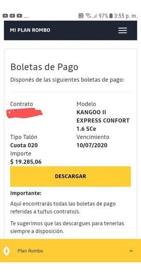 Plan Rombo Renault Kangoo Ii Express Confort 20 Cuotas Adjud