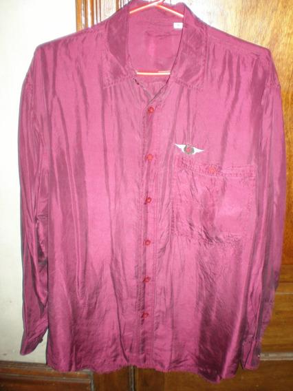 Camisa Seda 90s Hombre Silk Seda Fria - Pantalon Remera Jean