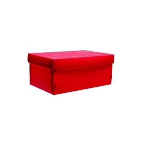 Caixa Organizadora De Sapato Vermelha