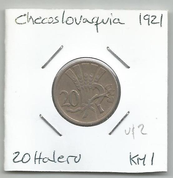 M153 Checoslovaquia Moneda 20 Haleru 1921 Km# 1