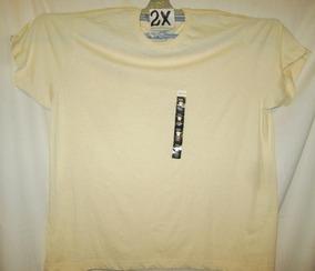 Camiseta Casual Crema Talla 2 X Alfani