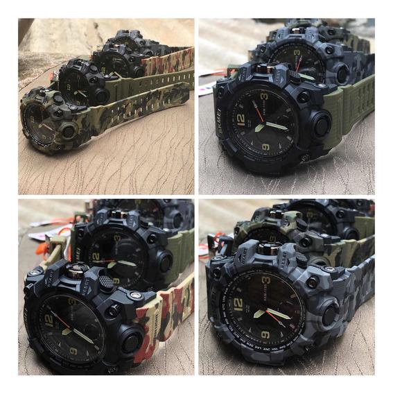 Kit 4x Relógio Militar Camuflado Funcional Promoção S/juros