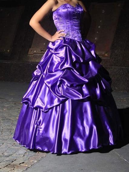 Vestido De 15 Color Violeta, Solo Un Uso, S/enagua