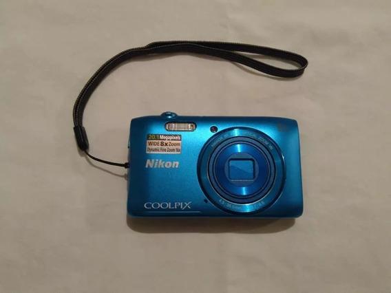 Cámara Nikon Coolpix S3600 20mp + Memoria De 8gb