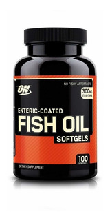 Omega 3 Optimum Fish Oil On 100 Caps Entérico Óleo De Peixe
