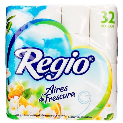 Papel higiénico Regio Aires de Frescura de32u
