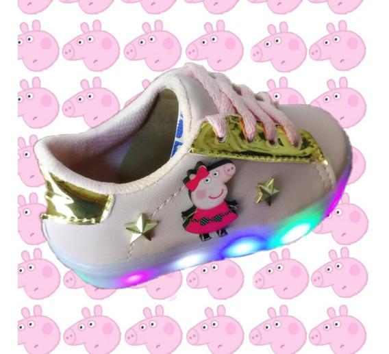 Tenis Rosas Peppa Pig Led