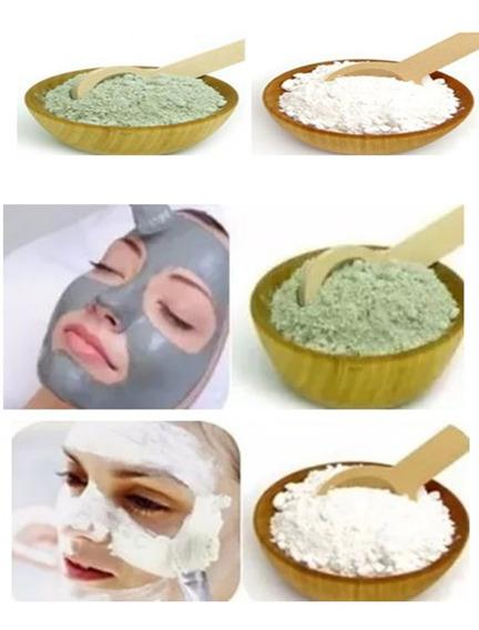 Argila Verde 1 Kg + 1 Kg De Argila Branca