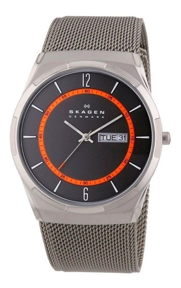Relógio Skagen Titanium Slim Analógico Skw6007/1pn
