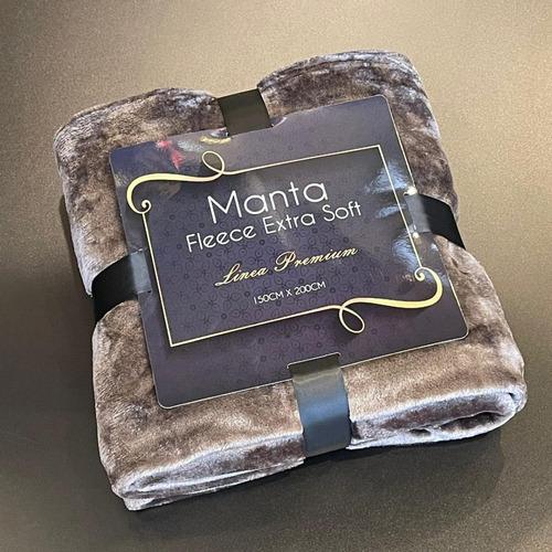 Imagen 1 de 3 de Manta Fleece Extra Soft Gris Piedra 100% Poliéster