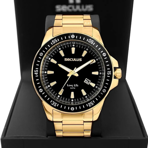 Relógio Masculino Seculus Long Life 20849gpsvda3