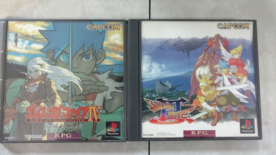 Ps1 Breath Of Fire Iii E Iv Japonês Original