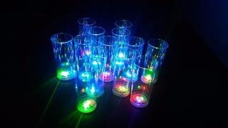Vasos Luminosos Cotillon Led X12 Unidades - El Mejor Precio!