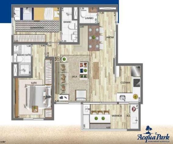 Apartamento Alphaville - Barueri, 2 Quartos - Acqua Park