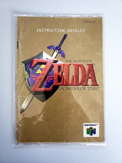 Manual Zelda Ocarina Of Time N64 Frete Grátis