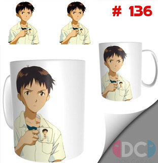 Taza Anime Coleccionables Evangelion Shinji #136