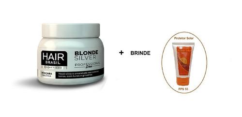 Máscara Matizadora Profissional 250g -  Hair Brasil + Brinde